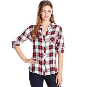 Rails Women's Hunter Button Down Plaid Shirt XS